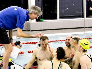 Swimming coach and team - Sheffield Triathlon Club